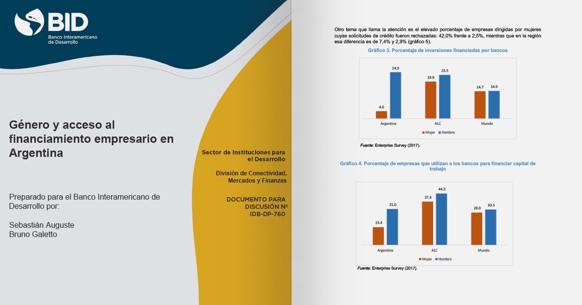 Estudo sobre gênero e acesso às finanças empresariais na Argentina